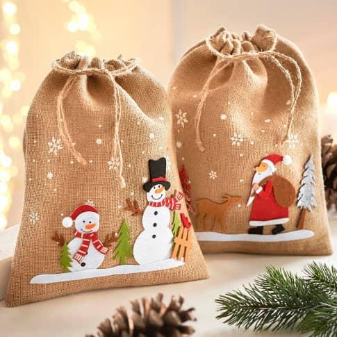 Beutel-Set, 2-tlg. Feliz Navidad Inszeniertes Bild