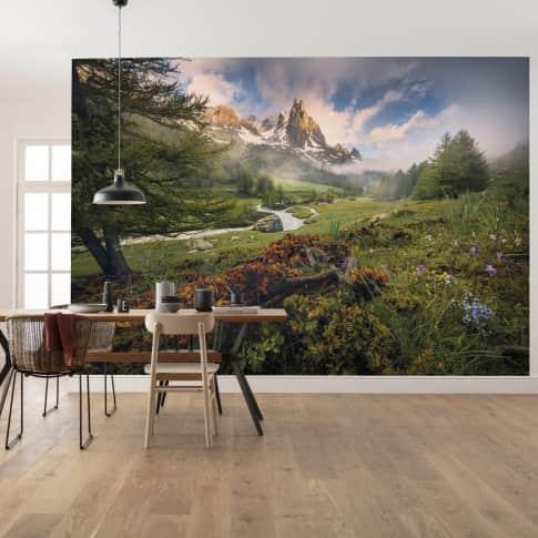 Vlies Fototapete Alpenparadies Inszeniertes Bild
