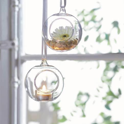 Hänge-Teelichthalter-Set, 2-tlg. Inszeniertes Bild