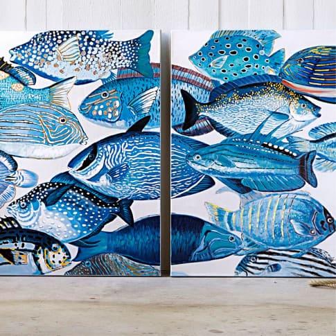 Bilder-Set, 2-tlg. Fish Inszeniertes Bild
