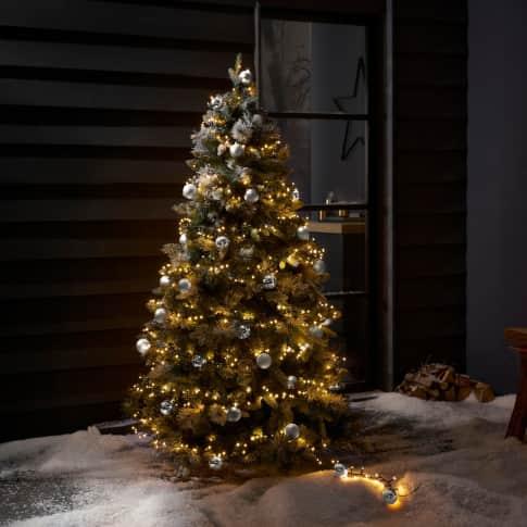 LED-Lichterkette Weihnachtskugeln, in 3 Farben und 2 Längen erhältlich Inszeniertes Bild