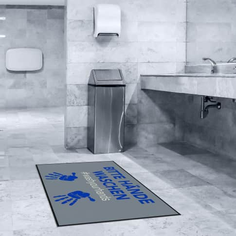 Fußmatte Händewaschen Inszeniertes Bild