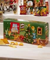 Adventskalender Pringles, 23 kleine Dosen mit je 40g & 1 große Dose mit 190g Inhalt Inszeniertes Bild