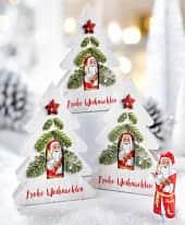 Präsent, 5-tlg. -Set Tannenbaum, 10 g Weihnachtsmann Inszeniertes Bild