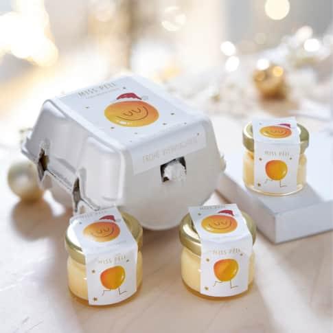 Eierpunsch-Set, 4-tlg., cremiger Eierlikör im Eierkarton Inszeniertes Bild