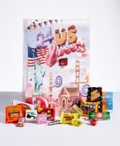 Adventskalender Süßigkeiten USA Inszeniertes Bild