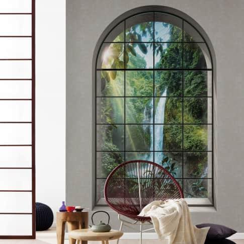 Vlies Fototapete Paradies Fenster Inszeniertes Bild