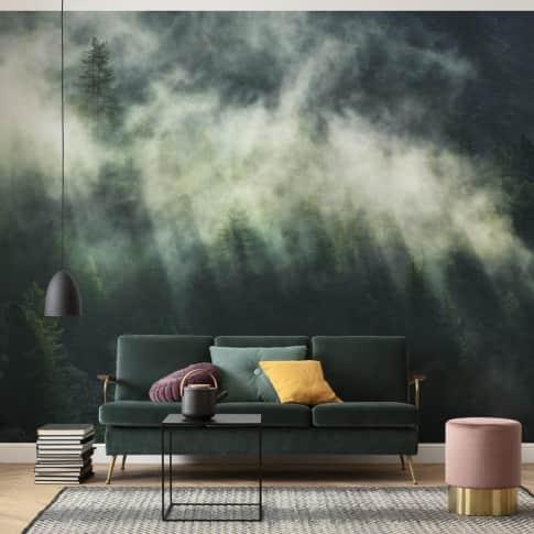 Vlies Fototapete Nebelschwaden Inszeniertes Bild