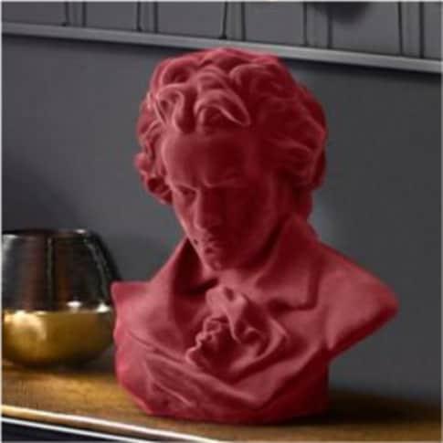 Deko-Figur Beethoven, Samt-Optik Oberfläche, Polyresin, ca. 30 cm hoch Inszeniertes Bild