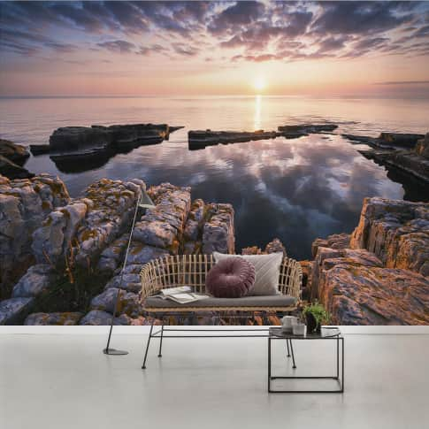Vlies Fototapete Clauds and Sea Inszeniertes Bild