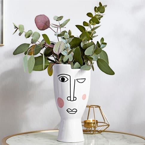 Deko-Vase Face Inszeniertes Bild