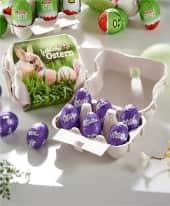 Schoko-Eier Alpenmilch, Ostereier, Schokolade , nachhaltig Inszeniertes Bild