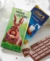 Schokoladentafel, 100 g Vollmilch, in Werbekartonage Inszeniertes Bild