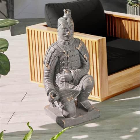 Deko-Figur Krieger, Asia-Style Inszeniertes Bild