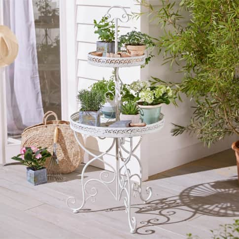 Outdoor-Etagere Carry, Romantik-Look, Metall Inszeniertes Bild