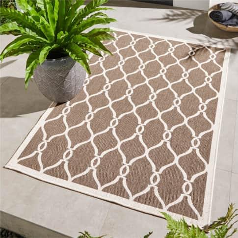 Outdoor-Teppich Andro, Wendeteppich, rechteckig, marrokanischer Stil, Polypropylen Inszeniertes Bild