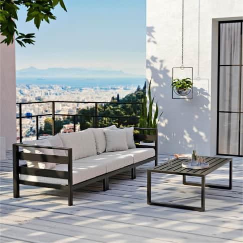 Outdoor-Lounge-Set, 2-tlg. Nino, Alu Inszeniertes Bild