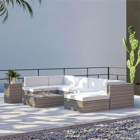 Outdoor-Lounge-Set, 4-tlg. Lido, Rattan Inszeniertes Bild
