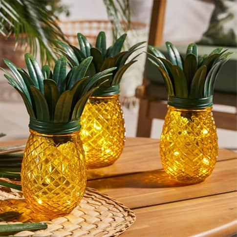 Solarleuchte Ananas, ca. H22 cm Inszeniertes Bild