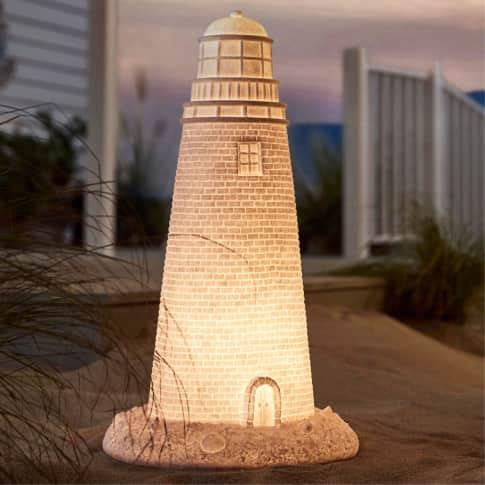 Outdoor-Leuchte Leuchtturm, ca. H60 cm Inszeniertes Bild