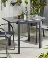 Outdoor-Balkontisch, ausziehbar Futuro, Gartentisch, modern, Aluminium, Glas Inszeniertes Bild