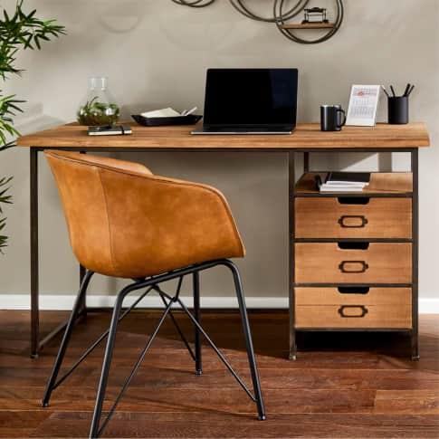 Schreibtisch Rusty, rustikal, Holz, Metall, 140 x 60 cm Inszeniertes Bild