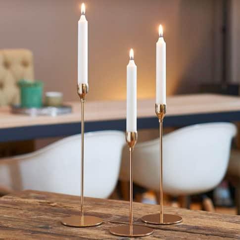 Kerzenständer-Set. 3-tlg Golden Inszeniertes Bild