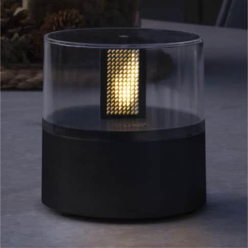 Solarleuchte Zylinder, mit LED, Timer-Funktion, warmweiß, Outdoor geeignet, ca. B10 cm Inszeniertes Bild