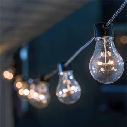 LED-Lichterkette Edison Inszeniertes Bild