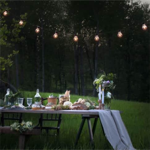 LED-Lichterkette Anita, 20 Dioden, Outdoor geeignet, Kunststoff, ca. L1450 cm Inszeniertes Bild