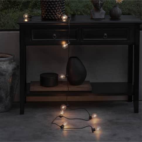 LED-Lichterkette Lars, Outdoor geeignet, 20 Dioden, Timerfunktion, Kunststoff, ca. L825 cm Inszeniertes Bild