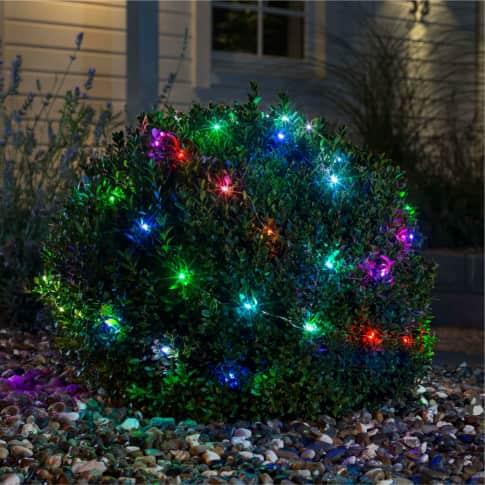 LED-Lichterkette Rainbow, Outdoor geeignet, RGB-Farbwechsler, 4,5 V, Kunststoff Inszeniertes Bild