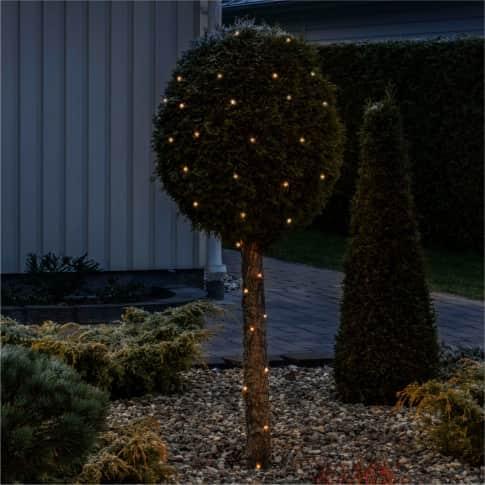 LED-Lichterkette Mari, mit Aufroller, Outdoor geeignet, 100 Dioden, Kunststoff, ca. 2480 cm Inszeniertes Bild