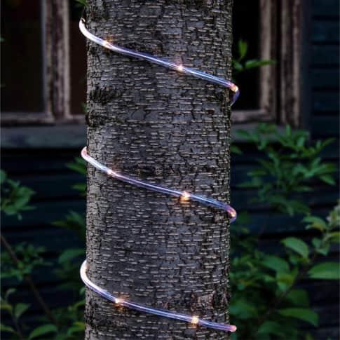 LED-Lichterschlauch Lena, warmweiß, Outdoor geeignet, transparentes Kabel, Kunststoff Inszeniertes Bild